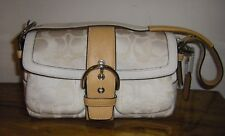 COACH SATEEN JACQUARD POCKET SOHO FLAP FRONT SMALL PURSE PERFECT FOR EVENING