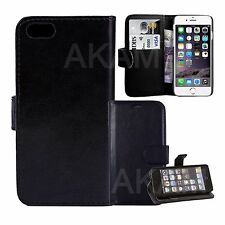Leather Black Book Wallet Flip 50 x Wholesale Joblot Case Cover For iPhone 5 5G