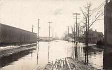 D19/ Battle Creek Michigan Mi Real Photo RPPC Postcard 1908 Flood Disaster 1