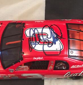 Autographed Dale Earnhardt #3 Coke Clear Window Bank Action 1/24 JSA Certified