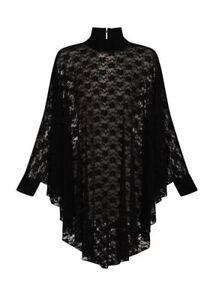 Gothic Spitzen Cape-Kleid Lydia Gothickleid Transparent durchsichtig