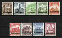 LUXEMBURGO/LUXEMBOURG MNH SC.NB1/NB9 Buildings ( occupation stamps )