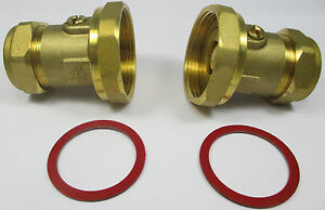 BALL TYPE PUMP VALVE 28mm x 1.1/2'' BRASS COMPRESSION CENTRAL HEATING PAIR or 1