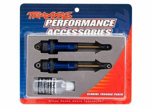 Traxxas Part 7462 Shocks Rear GTR XX-long blue-anodized Slash Rustler New Packag