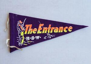 VINTAGE THE ENTRANCE NSW AUSTRALIA SOUVENIR PENNANT FELT CLOTH WALL FLAG