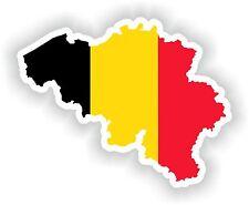 Belgium Map Flag sticker Silhouette Bumper Car Scooter Skateboard Laptop Fridge