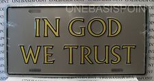 In God We Trust License Plate Christian Aluminum Embossed Holy Sign Car Tag Auto