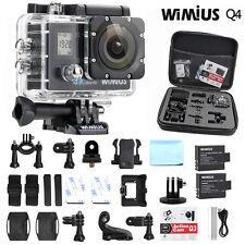 4K 16MP FHD Wimius Sport Action Camera Waterproof Dual Screen WiFi cam +dv bag