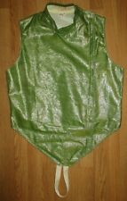 Vintage Green Shiny Fencing Vest Size 42 Made In Usa