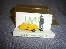 420B IMU Modellauto Messerschmitt Poste Figurine Microcar Plastique Ho 1:87