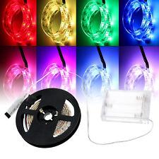 Strip Lights RGB 5V + Battery Box + Controller Battery LED Powered Multi-color
