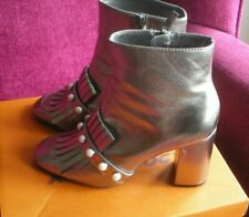 PRIMARK PEWTER ANKLE BOOTS SIZE 5