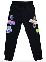 Nike Jordan Boys Jumpman Sticker Pants Size L Black Fleece Joggers 957172 023