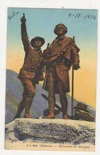 Chamonix Monument de Saussure 1926 Postcard Switzerland 390a