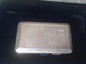 Sterling silver vintage Art Deco antique card Or Cigarette case box, 1930