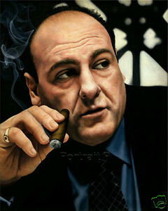 Tony Soprano Oil Painting Original Hand-Painted Art on Canvas NOT a Print 24x30