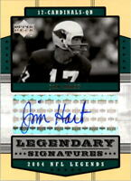 2004 Upper Deck Legends Legendary Signatures #LSHT Jim Hart Auto - NM-MT