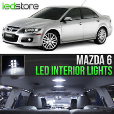 2003-2008 Mazda 6 White LED Lights Interior Kit Package Bulbs MazdaSpeed