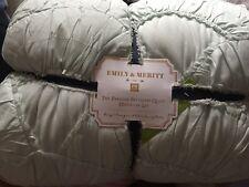 Pottery Barn Teen Perisian Petticoat King Quilt Teal NWT