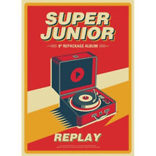 SUPER JUNIOR [REPLAY] 8th Repackage Album CD+Photobook+Card K-POP SEALED