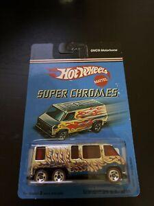 2007 Hot Wheels Super Chromes GMC MOTORHOME with flames NIP H528