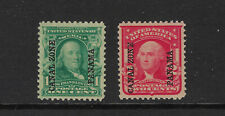 """USA Canal Zone Scott # 4 & 5 VF NO Gum #4 has second broken """"N"""" US Stamps CZ"""