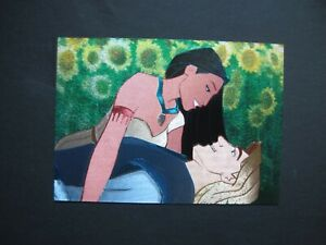 POCAHONTAS Duflex Card #4 of 5 with Pocahontas & John Smith Disney Cartoon
