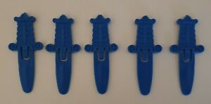 Pop Up Pirate Replacement Swords, Spare Parts x 5 Blue