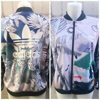 Adidas Women's Originals Track Top Size 14 Floral Ladies Casual Jacket Flowers