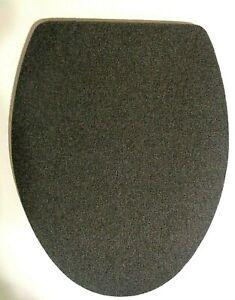 DARK GREEN FLEECE ELONGATED TOILET SEAT LID COVER