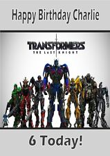 Personalised Transformers The Last Knight Birthday Card