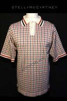 """STELLA MCCARTNEY Polo Shirt (M) Heavy Cotton Pit-Pit 20"""" RRP;£450"""