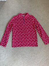 Euc Girl's Garnet Hill Zip-Neck Microfleece Jacket - Size Xl (12-14)