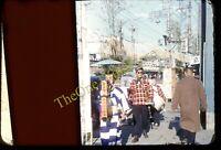 Yokohama Japan Street Scene 1950s 35mm Slide Vtg Red Border Kodachrome