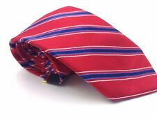 $95 CLUB ROOM Mens RED WHITE BLUE STRIPE SILK TIE CLASSIC DRESS NECKTIE 58x3.25
