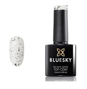 BLUESKY GEL POLISH EGGSHELL NO WIPE MATTE TOP COAT UV LED SOAK OFF BCT02