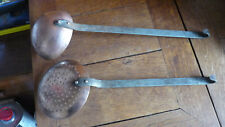 Ladle and skimmer  copper  13 3/4 inches each