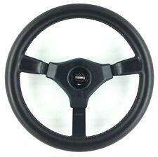 Genuine Momo Cavallino 350mm leather steering wheel. Retro classic, 1990.   8A