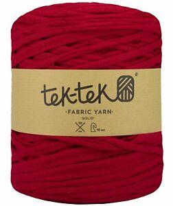 T-SHIRT YARN Lipstick Red New Large Ball Cotton Knit Crochet Weave 130m