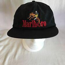 Vintage 90's Marlboro Cigarettes Cowboy Rodeo Rider Baseball Cap Hat Snapback