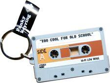 Porte Clefs cassette vintage en pvc K7 audio Retro 80's cassette retro keychain
