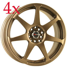 Drag Wheels DR-33 17x7.5 5x100 5x114 Rally Bronze Rims For TC Lancer Celica Rsx