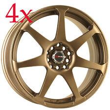 Drag Wheels DR-33 17x7.5 5x100 5x114.3 Rally Bronze Rims For impreza legacy TSX