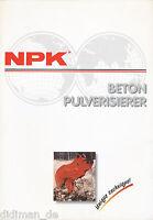 NPK Beton Pulverisierer Prospekt  GSER0998DEU brochure Baumaschine construction