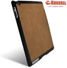 KRUSELL iPAD 4 HARD BACK BLACK COVER CASE WITH SUEDE COMFI-GRIP