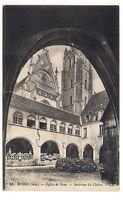 bourg  église de brou  intérieur du cloître