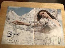 ABBEY LEE KERSHAW - 2011 Magazine Print Ad - Flora by GUCCI - 2 Page Ad