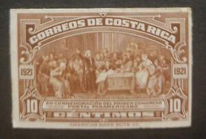 O) 1921 COSTA RICA. DIE PROOF, COLUMBUS SOLICITING AID OF ISABELLA,AMERICAN BANK