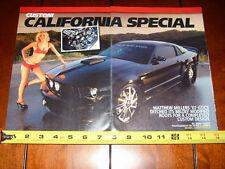 2007 MUSTANG GT CS CALIFORNIA SPECIAL - ORIGINAL 2010 ARTICLE
