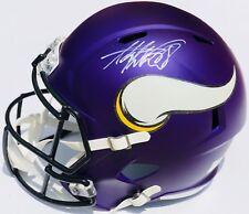 Minnesota Vikings ADRIAN PETERSON Signed Autographed SPEED Football Helmet COA!